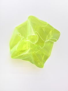 Deally , 2011 , acrylic glass , 75 x 75 x 37 cm . Verde Neon, Yellow Art, Art Archive, Art For Art Sake, Art Object, Sculpture Art, Sculpting, Cool Art, Contemporary Art