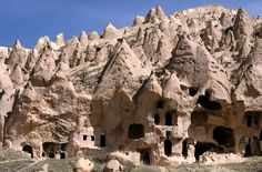 """Goreme National Park & the Rock Sites of Cappadocia, Turkey. Goreme National Park (AKA Dildo National Park... Ah-mazing!) is located among the """"fairy chimney"""" rock formations, is a town in Cappadocia, a historical region of Turkey."""