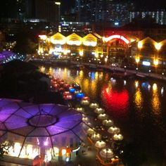 Singapour - Clarke Quay by night