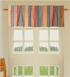 Quilted Cotton Striped Valance
