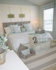 Seriously?!?!  amazing use of leopard print! LOVE!  Master Bedroom Makeover | The Other Side of Neutral