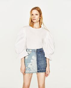 Image 2 of TWO-TONE MINI SKIRT from Zara