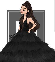 Ariana Grande Anime, Ariana Grande Drawings, Ariana Grande Background, Ariana Grande Wallpaper, Imagen Natural, Beautiful Girl Drawing, Girly Drawings, Digital Art Girl, Girl Cartoon