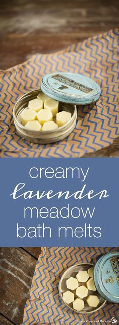 How to make Creamy Lavender Meadow Bath Melts. Emulsifying wax means the bath is less slippery afterwards.