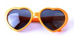 Heart Shaped Orange Sunglasses