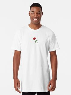 """Red rose"" T-shirt by Geanina5698 