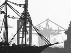 atelier nigoh Hamburger Hafenmotive werden nie langweilig! Knallbunte oder elegant schwarz/weiße Hafenbilder! www.nigoh.de