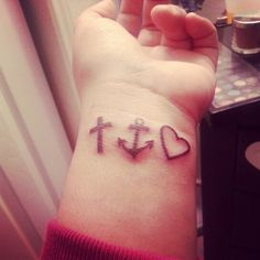 Faith, Hope and Love tattoo....I want these and on my ...