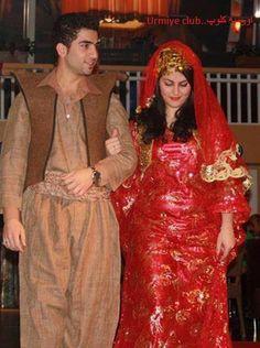 Kurdish couple in Kurdish clothes Pinterest: @kvrdistan
