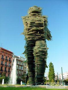 Dromeas (Runner) is a 12 meter tall glass and iron sculpture created in 1994 by Athens artist Costas Varotsos. Attica Greece, Athens Greece, Costa, Modern City, Running Man, Weird Art, Concert Hall, Stand Tall, Public Art