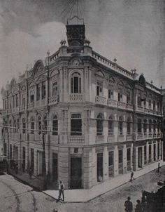 Edifício da repartição geral dos Correios em 1911. Rio de Janeiro, Brasil.