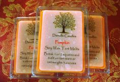 Pumpkin Soy Candle Tarts by DanvilleCandles on Etsy