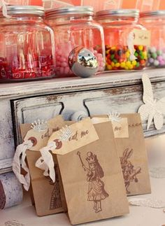 candy bar with those little bags would be such an easy DIY wedding detail