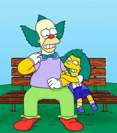Krusty and his daughter
