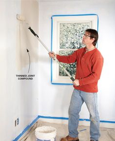 Smooth over rough or damaged walls with a skim coat of mud, applied with a special squeegee knife. It's easy to do and delivers great results. By the DIY experts of The Family Handyman Magazine Drywall Mud, Drywall Repair, Drywall Finishing, Drywall Ceiling, Plaster Repair, Drywall Sander, Drywall Tape, Skim Coat Plaster, Drywall Installation