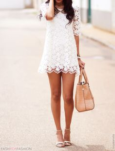 2014 Lace Dress Vintage Style Half Sleeve Back Bow Cute Fashion, Look Fashion, Vintage Fashion, Womens Fashion, Young Fashion, Vintage Style, Fashion Design, Cute Dresses, Cute Outfits