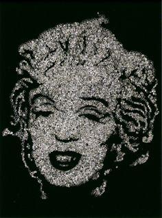 Marilyn Monroe, 2004, by Vik Muniz
