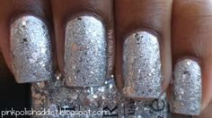 Pink Polish Addict: 12 Days of Christmas: Silver Nails  Zoya Trixie and OPI Crown Me Already.