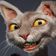 Jose Alves da Silva composites a couple of musicians into a scene with a ZBrush cat! White Rabbit Character, 3d Character, Character Design, Foto 3d, Cat Anatomy, Cat Posters, Cat Face, Pet Portraits, Pet Birds