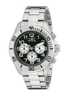 Invicta Men's 17935 Pro Diver Analog Display Japanese Quartz Silver Watch *** Read more reviews of the product by visiting the link on the image. (This is an Amazon Affiliate link and I receive a commission for the sales)