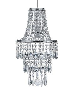 Buy Heart of House Grace Glass Droplet Ceiling Fitting - Chrome at Argos.co.uk - Your Online Shop for Ceiling and wall lights.