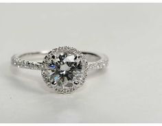 0.95 Carat Diamond Floating Halo Diamond Engagement Ring | Recently Purchased | Blue Nile