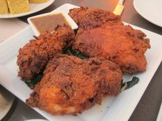 Fried Chicken with matzo meal at Lexington Social House #hollywood