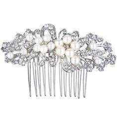 Ever Faith Kristall Ribbon Warm Weiß Farbe Künstlicher Perlen Braut Haarkamm Haarschmuck Silber-Ton Ever Faith http://www.amazon.de/dp/B00JKEEXBO/ref=cm_sw_r_pi_dp_CJBWvb1FPWR9G