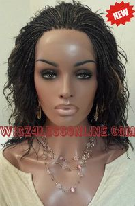 Custom Top/Front Braided Lace Front Wig-
