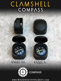 Button compass for your paracord survival projects. DIY and create a wearable emergency survival kit.
