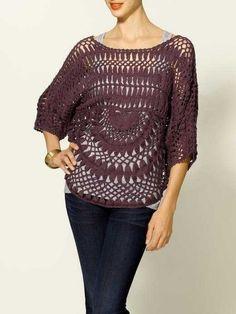 Crochet Open Pullover by Sabine