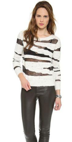 alice + olivia Sparro Sheer Pullover