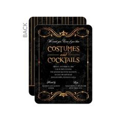 Dark and Daring Halloween Invitations