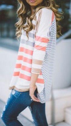 Such a cute top! I love thin sleeves.