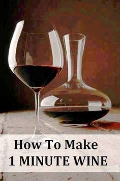 How to make wine in one min. Homemade Wine, Wine Making, Home Brewing, Natural Living, Wine Decanter, Alcoholic Drinks, Beverages, Natural Health, Wines