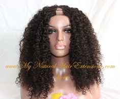 Image of Kinky Curly Wigs For Natural Hair √ Full, Medium, Short & Half
