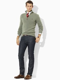 Men's fashion the Ralph Lauren business casual mixed into one. Fashion Moda, Look Fashion, Autumn Fashion, Mens Fashion, Fashion Outfits, Fashion Shoes, Sharp Dressed Man, Well Dressed Men, Mode Masculine
