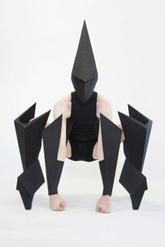 Gareth Pugh tutu design for the Royal Opera House's new ballet - Carbon. Really love this sculptural design!