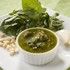 i made this pesto for on our grilled pizzas. (minus the nuts) Mmmm