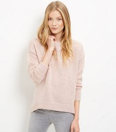 Pink Boxy Jumper   New Look