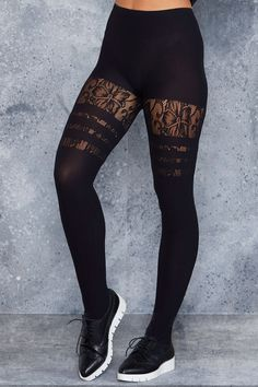 Sporty Stripes Floral Hosiery - LIMITED ($40AUD) by BlackMilk Clothing