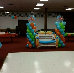 Finding nemo balloon columns from my baby shower that I made :)