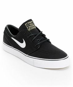 timeless design ae4ec e6c56 Nike SB Janoski Black   White Canvas Skate Shoes · Chaussures HommeNikes  NoirStefan ...