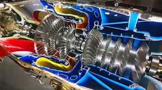 This Full Motion Cutaway Of A PT6 Turboprop Engine Is A Glorious Work Of Art