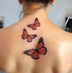 Butterfly Tattoos for Women &; Ideas and Designs for Girls Butterfly Tattoos for Women &; Ideas and Designs for Girls Lauren Gore lelizabethxx Tattoos This tattoo is made up of […] butterfly tattoo Monarch Butterfly Tattoo, Butterfly Tattoo Meaning, Butterfly Tattoo On Shoulder, Butterfly Tattoos For Women, Butterfly Tattoo Designs, Colorful Butterfly Tattoo, Simple Butterfly, Orange Butterfly, Spine Tattoos For Females