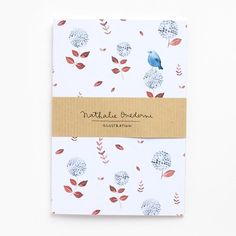 "Nathalie Ouederni A6 Muistivihko ""Blue Bird"" Paper Goods, Blue Bird, Print Patterns, Notebook, Graphic Design, Illustration, Shop, Prints, Illustrations"