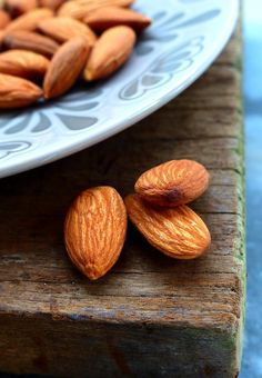 Almonds Fresh Vegetables, Veggies, Almond Nut, Happy Foods, Dried Fruit, Pistachio, Spoon, Food Photography, Spices