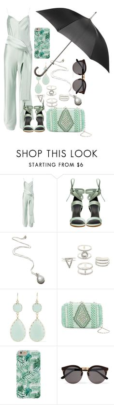 """""""Stylish on a Rainy Day"""" by watermelonhead ❤ liked on Polyvore featuring Galvan, TIBI, Pamela Love, Charlotte Russe, Kenneth Jay Lane, G-lish, Illesteva and Totes"""