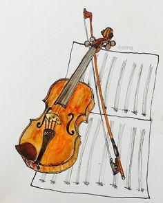 #바이올린 #그림 #드로잉 #violin #Drawing #poster #포스터 #concert #cello #첼로 #음악회 #수string #soostring