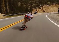AWESOME VIDEO OF JAMES KELLY SKATEBOARD TRICKS DOWNHILL!